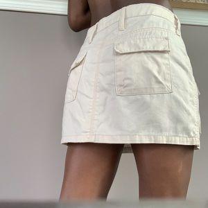 Cargo mini skirt.